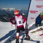 alpine Skiläuferin