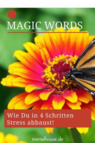 Wie Worte verzauben- Magic Words! Wie Du in 4 Schritten Stress abbaust