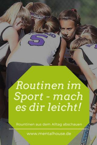 Routinen im Sport- mach es Dir leicht!